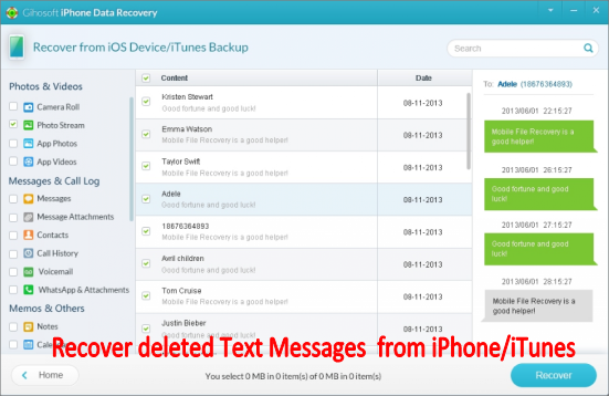 How to Recover Deleted Text Messages on iPhone Free