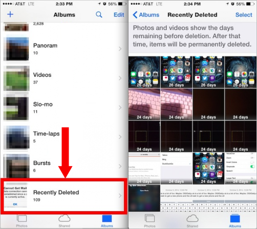Get Back Deleted Videos on iPhone/iPad in iOS 8