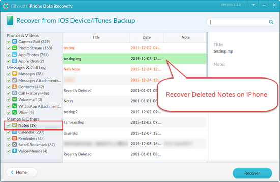 iPhone Notes Disappeared - How to Recover Deleted Notes on