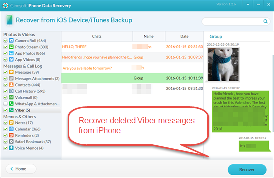 recover messages iphone how to restore viber messages on iphone for free 7289