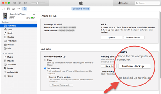 Recover iPhone Contacts and Data after iOS 9 Update