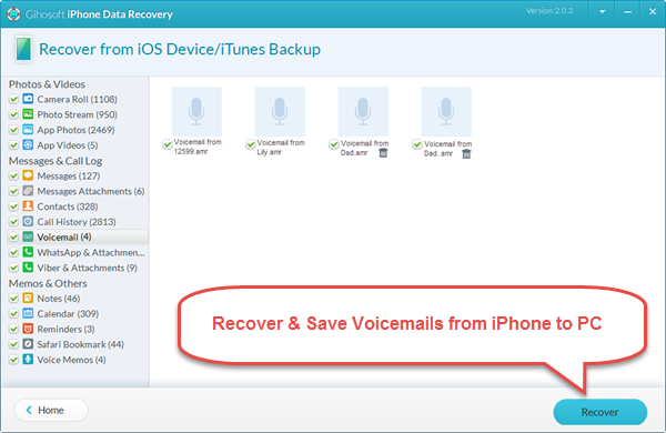 Save and Recover Voicemails from iPhone to PC or Mac Quickly