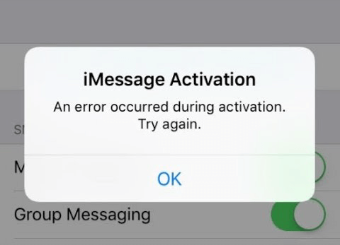 An Error Occurred During Activation for iMessage