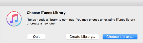 Create A New iTunes Library