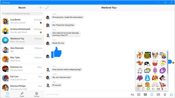 Facebook Messenger also provide an app for Windows user to connect with your friends and family.