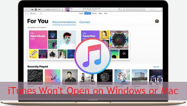iTunes Won't Open