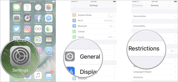 Remove Restrictions on iMessage