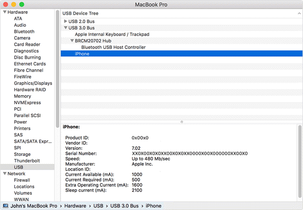 Check System Report on Your Mac to fix iPhone not showing up in iTunes.