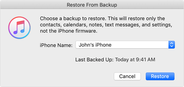 Try Restoring from a Different iTunes Backup