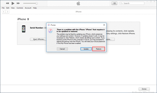 Follow the steps below to put iPhone into DFU mode and restore it via iTunes