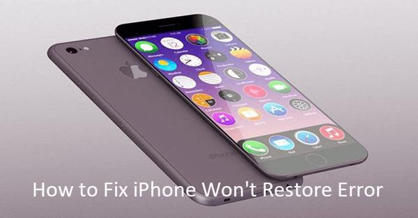 iPhone Won't Restore Error