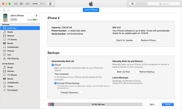 Factory Reset Locked iPhone/iPad with iTunes