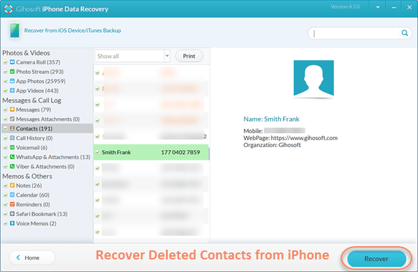 5 Free Methods to Recover Deleted Contacts on iPhone