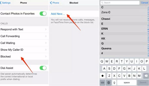 Block Someone on iPhone