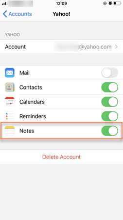 Free Recover Lost Notes on iPhone via Email Accounts