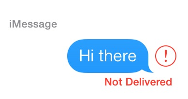 iMessage Not Delivered Error on iPhone.