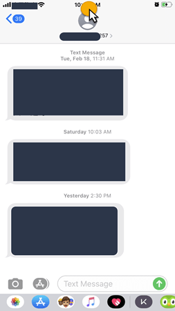 Get to the Beginning of a Text Conversation Quickly