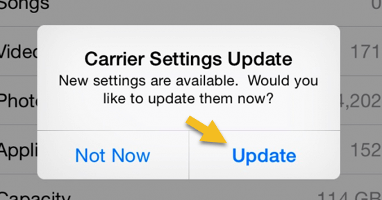 Update Carrier Settings to iPhone says voicemail is full but it's not