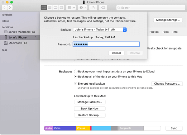 Retrieve Deleted Videos from iTunes Backup